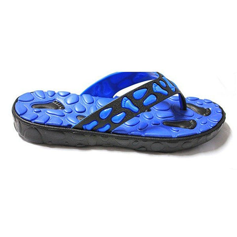 Men Pattern Clip Toe Flat EVA Indoor Bathroom Beach Slippers Flip Flops