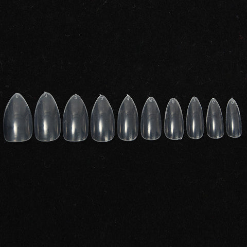 600Pcs Almond Oval Shape Stiletto Pointy False Nail Tips Acrylic Gel Polish