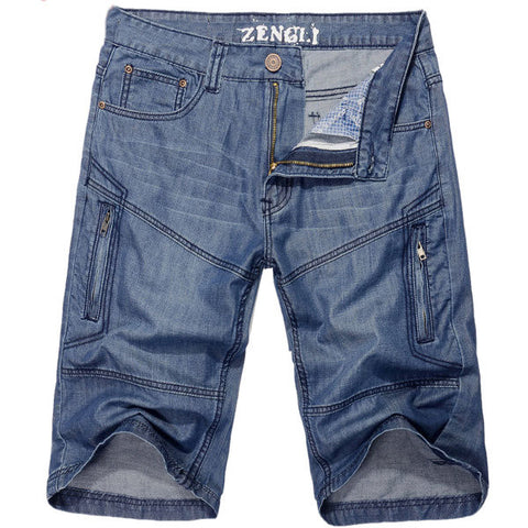Summer Casual Denim Straight Leg Loose Fit Knee-length Plus Size Shorts Jeans For Men
