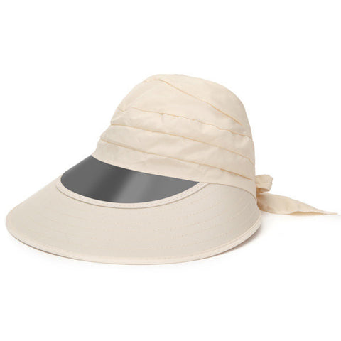 Casual Anti-UV Wide Big Brim Bowknot Outdoor Summer Cycling Beach Sun Foldable Hat