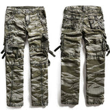 Men's Fashion Army Camo Loose Fit Plus Size Casual Cargo Pants