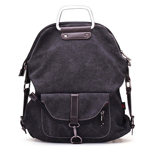 Casual Canvas Multipurpose Backpack