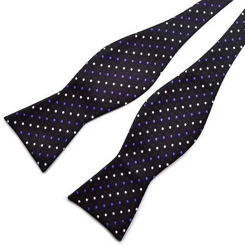 Male Polka Dot Bow Ties Paisley Jacquard Woven Silk Neckties Accessory