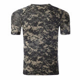 Summer Mens Tees Army Sports Tactical Camo Slim Fit Crew Neck Short Sleeved T-shirts