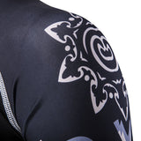 Mens Quick Dry Wolf Printing Training Tights Long sleeve Bodybuilding T-shirts