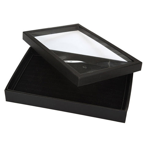 100 Slot Velvet Jewelry Storage Tray Box