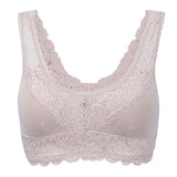 Women Sexy Lace Breathable Wireless Bra Modal Embroidery Thin Vest Bras