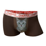 Sexy Meow Star Modal Briefs Mens Fashion Pussycat Printed Underwears