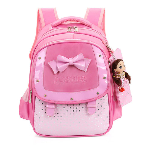 Cute Girls Backpack Children Bowknot School Bag Large Capacity Backpack Orthopedic School Bag