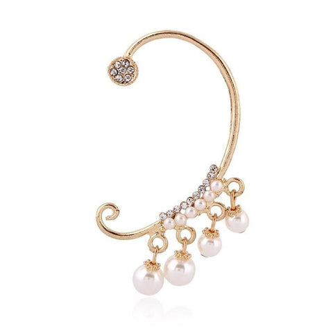 1Pc Crystal Imitation Pearls Ear Cuff