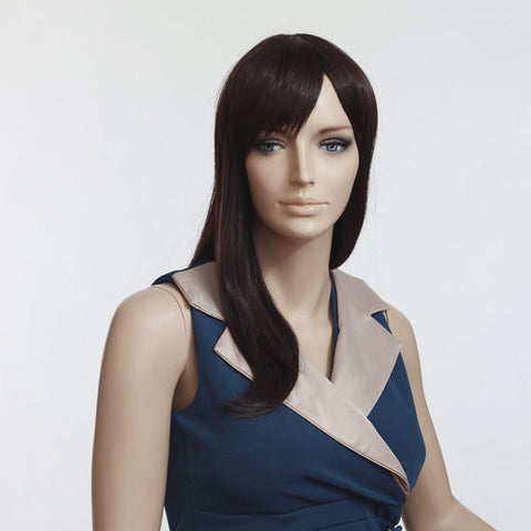 Dark Brown High-temperature Fiber Long Straight Wig