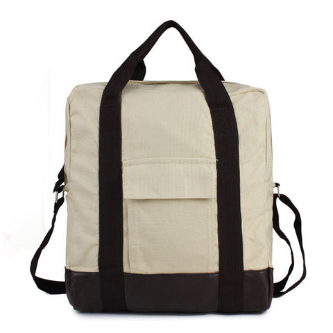 Athletic Canvas Women Tote Leather Backpack - shechoic.com