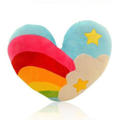 Cotton Rainbow Heart Clouds Couple Pillow Cushion Sofa Office Bed Decor