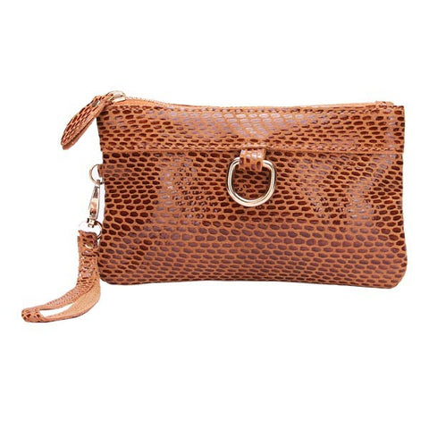 Fashion Snake Grain Pu Leather Women Clutch Bag