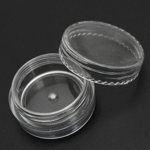 3ml Empty Transparent Cosmetic Jar Pot Face Cream False Eyelash Container Travel
