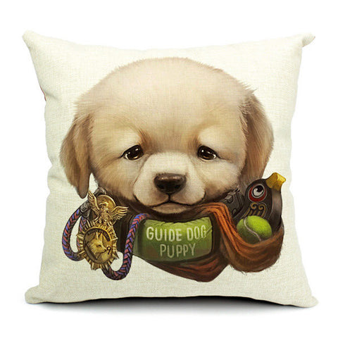 Cute Cartoon Dog Pillow Case Home Offcie Car Cushion Cover