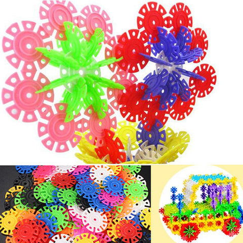 100Pcs Multicolor Snowflake Building Blocks Kid Educational Toy Puzzle Handmade Toys