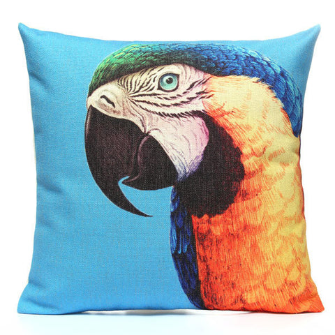 Linen Cotton Animal Series Printed Pillow Case Home Decor Cushion Cover