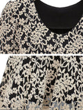 Casual Long Sleeve Lace Hollow Blouse Slim Elegant Shirt