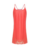 Spaghetti Strap Chiffon Solid Color Backless Casual Dress