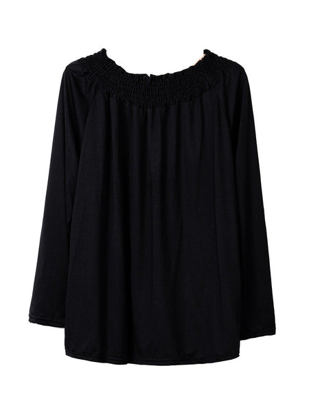 Strapless Off-The-Shoulder Long Sleeve Blouse For Women