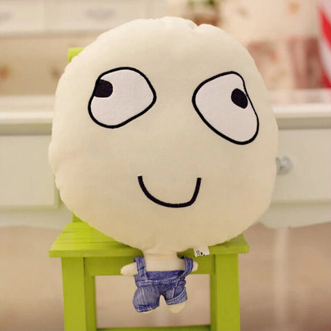 Plush Foam Funny Expression Rage Comic Throw Pillow Bed Chair Cushion