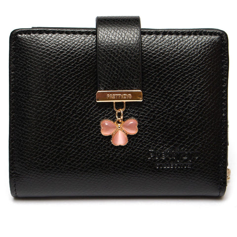 Candy Color Lucky Clover Diamond Women Short Wallet