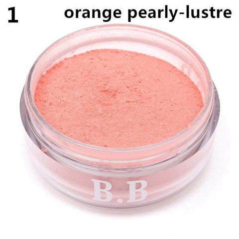5 Colors EFOLAR Bright Blush BB Cream Makeup Blusher Mineral Powder Puff