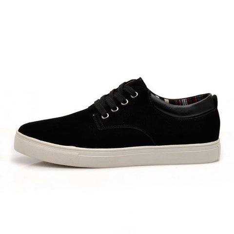 Big Size Men Suede Pure Color Lace Up Flat Casual Shoes