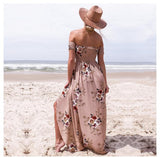 Cindee Lane Boho Vacation Beach Skirt Maxi Dress