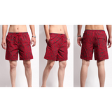 Men's Summer Cool Fifth Pants Quick Dry Printing Beach Shorts