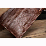 Men Cowhide Casual Wallet Leisure Card Coin Cash Bag