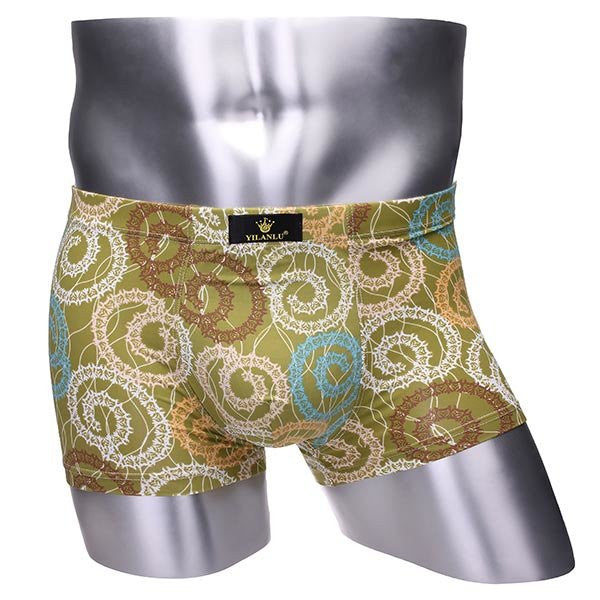 Men's Colorful Patterns Soft Boxers Briefs Smooth Breathable Underwears