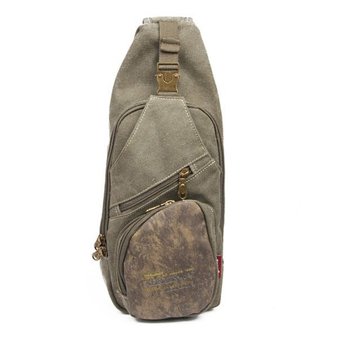 AERLIS Men Canvas Multifunctional Outdoor Sports Crossbody Bag - shechoic.com