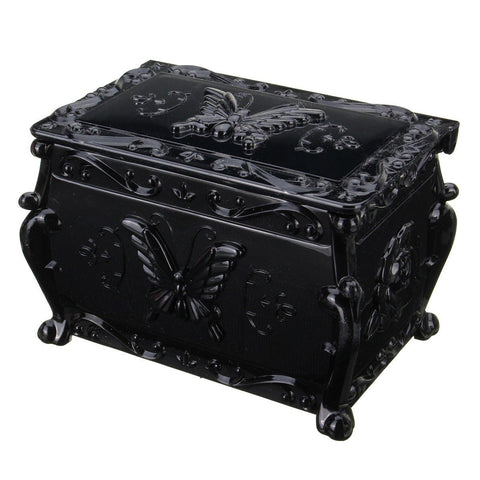 Butterfly Plastic Double Layer Jewelry Box