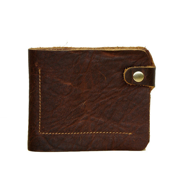 Men Retro Genuine Leather Short Wallet Card Holder Handbag