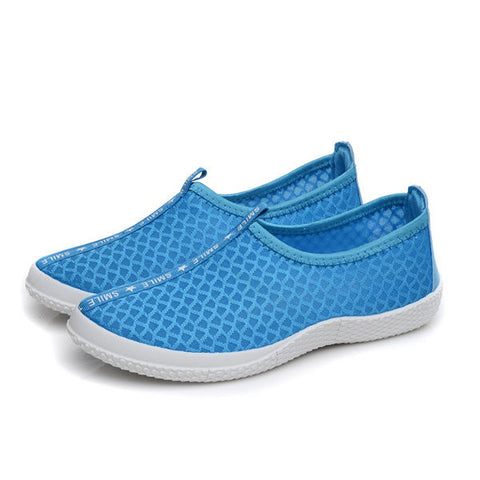 Men And Women Lover Mesh Slip On Breathable Casual Sport Flat Shoes