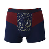 Mens Sexy Animal Printing Briefs Breathable Modal Boxers U Convex Pouch Underwears