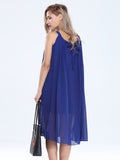 Women Sleeveless Fold Chiffon Bohemian Long Maxi Dress