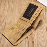 Men Light Multifunction Short Wallet Canvas Casual Card Holders Purse