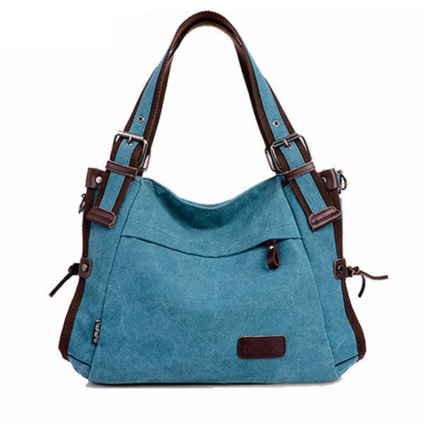 Canvas Large Volume Shoulder Bag