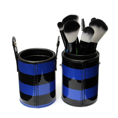 10 Pcs Professional Makeup Brush Set Cosmetic Tool Kit With Barrel 3 Colors