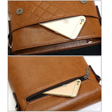 Men Business Retro Shoulder Bags PU Leather Crossbody Bags