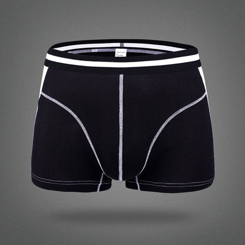 Men's Comfortable Breathable Modal Briefs Stitching Color Boxers U Convex Underwear