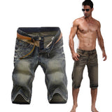 Men's Vintage Straight Slim Fit Casual Denim Bermuda Shorts