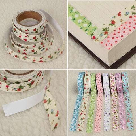 Floral Fabric Tape Washi Masking Tape Decorative Tape DIY Tape Stickers
