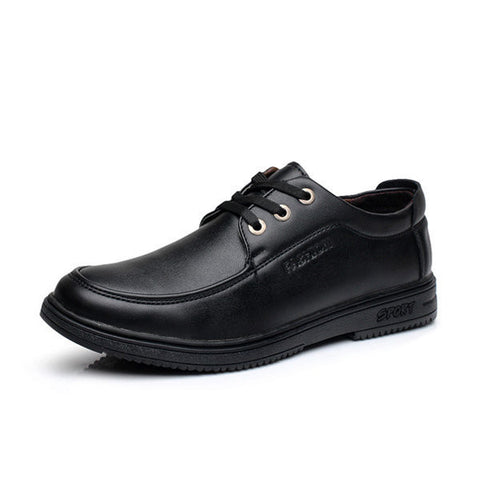 Men Black Formal Lace Up Business Casual Office Breathable Shoes