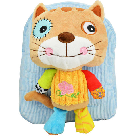 Girl Boy Lovely 3D Animal Backpack Kids Cartoon Plush Shoulder Bag Snap Package