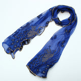 Fashion Lace Peacock Print Long Soft Scarf Wrap Shawl Stole Scarves