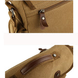 Mens Canvas Bag Durable Crossbody Bag Messengers Bag
